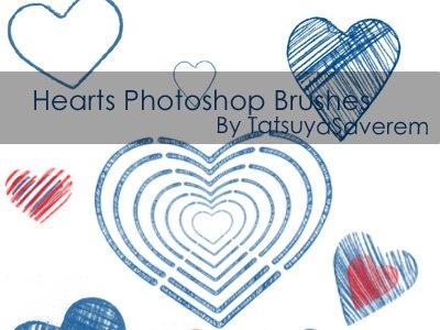 Кисти сердца для Фотошопа