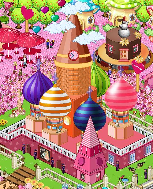 Пиксельный конфетный городок