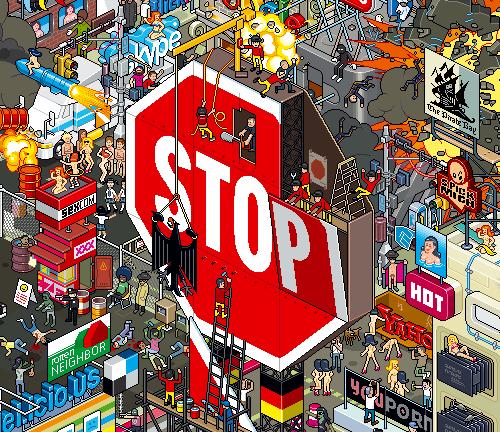 пиксельный знак СТОП