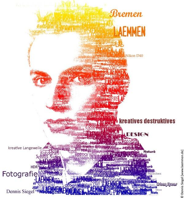 Типографический яркий автопортрет