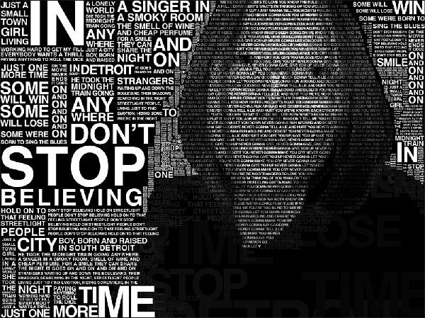 Темный типографический автопортрет
