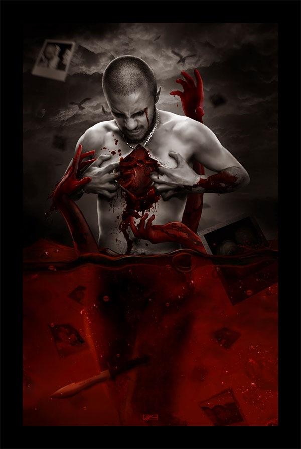 кровавый постер