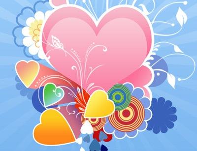 Сердечки к дню Валентина