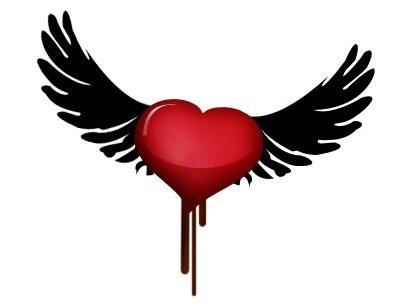 Лого сердца с крыльями в Фотошопе
