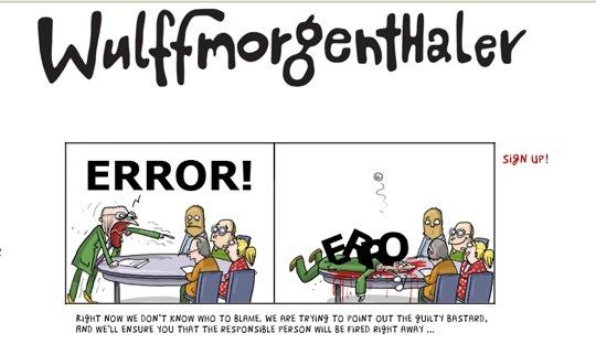 Страница ошибки в виде комиксов