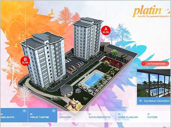 Яркий сайт Erguvan Platin Evleri создан для отеля
