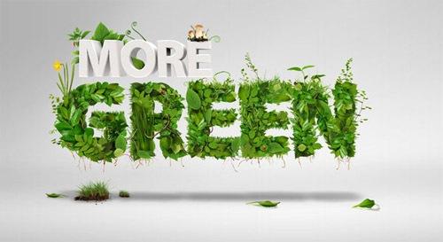 Зеленая типографика