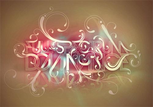 Типографический постер в пастельных тонах