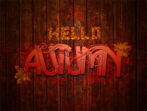Осенняя типографика