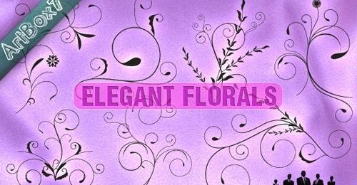 Элегантные векторные цветы