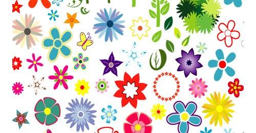 Набор векторных цветов