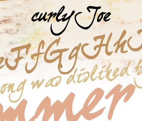 Прописной шрифт curlyjoe