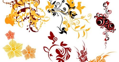 Векторные цветы с завитками