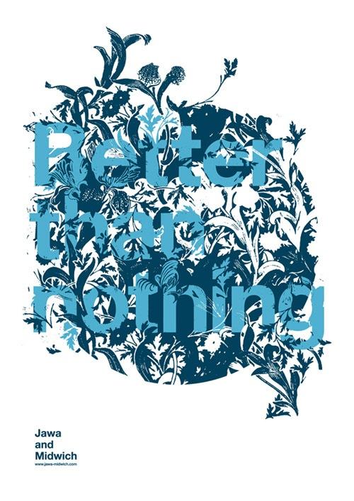 Типографический постер в природном стиле