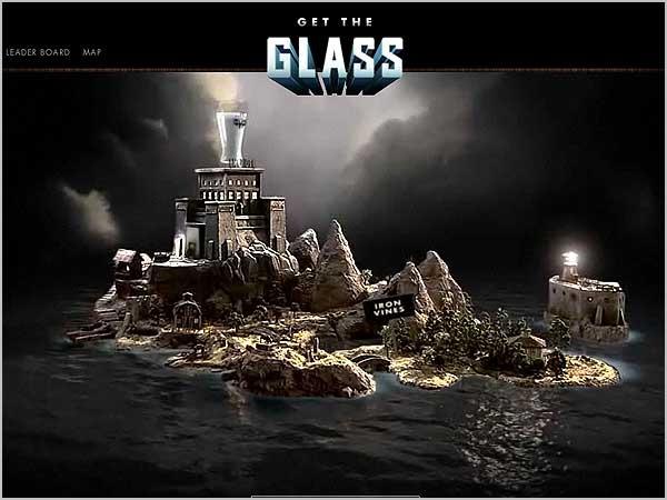 Креативный сайт Get the Glass