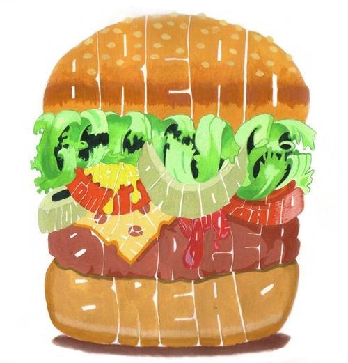 Гамбургер из шрифтов