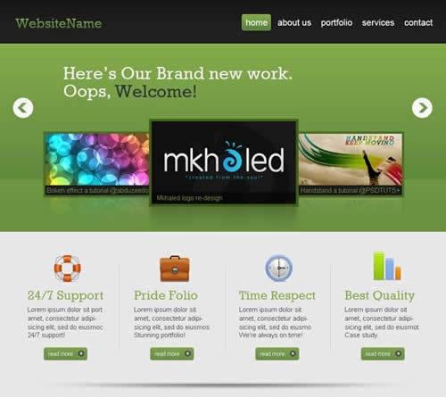 Создание профессионального Веб 2.0 шаблона