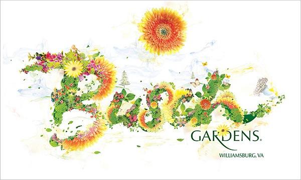 шрифты из цветов