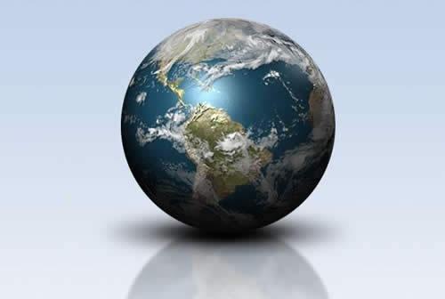 Создание блестящего земного шара 3D в Фотошопе