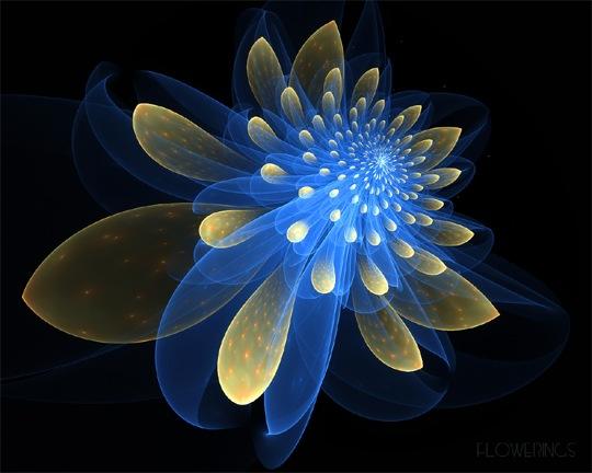 Неоновый цветок