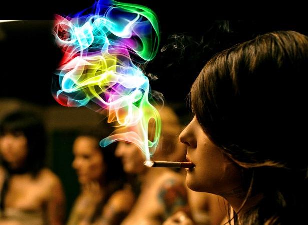 неоновый дым