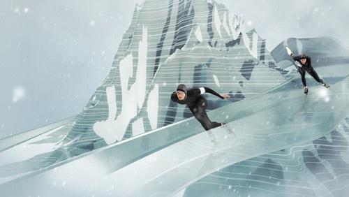 зимний олимпийский дизайн
