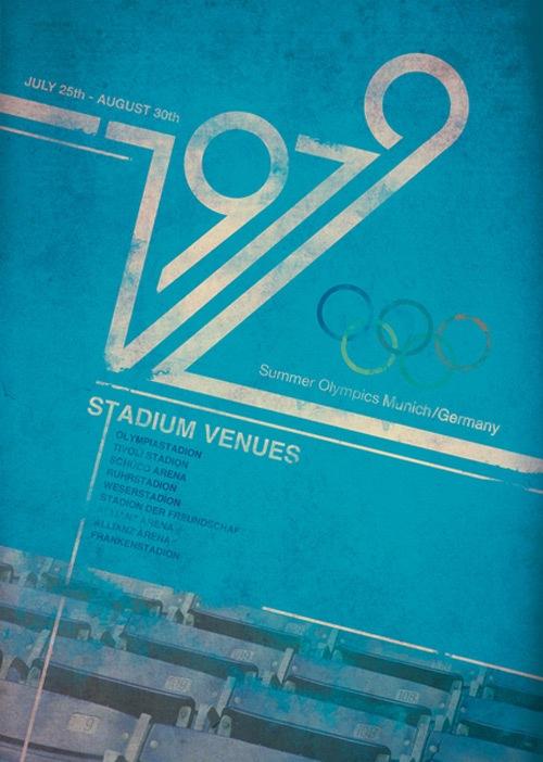 Ретро 1979 Олимпийский постер