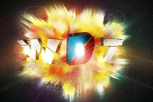 3D взрывной эффект используя настройки Фотошопа