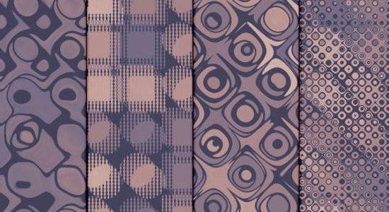 4 винтажных розово-лиловых текстуры
