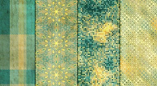 6 ярких зеленых текстур