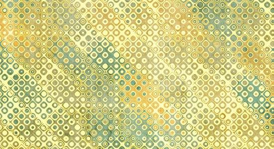желто-зеленовые ретро квадраты