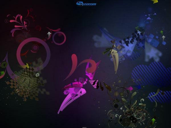 Стильный сайт с яркими и красочными 3D элементами на флеше
