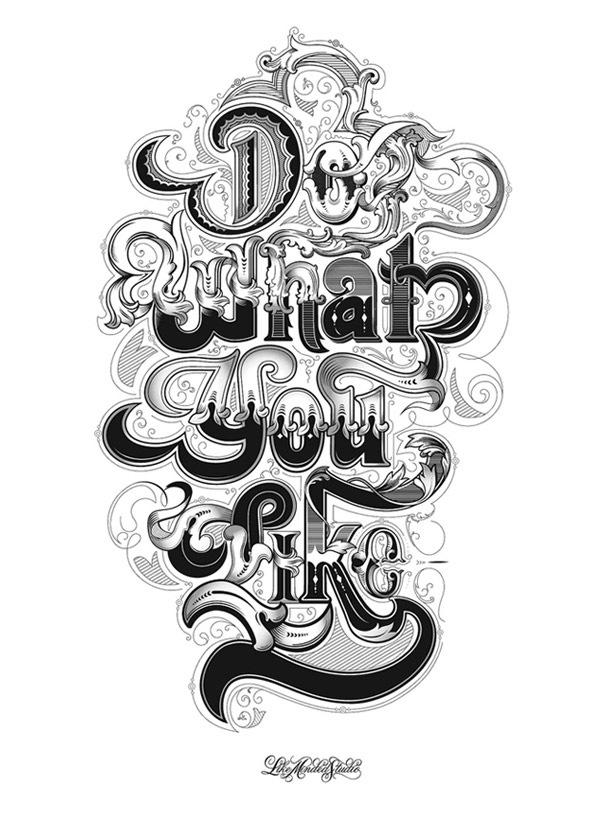 Стильная черно-белая типографика