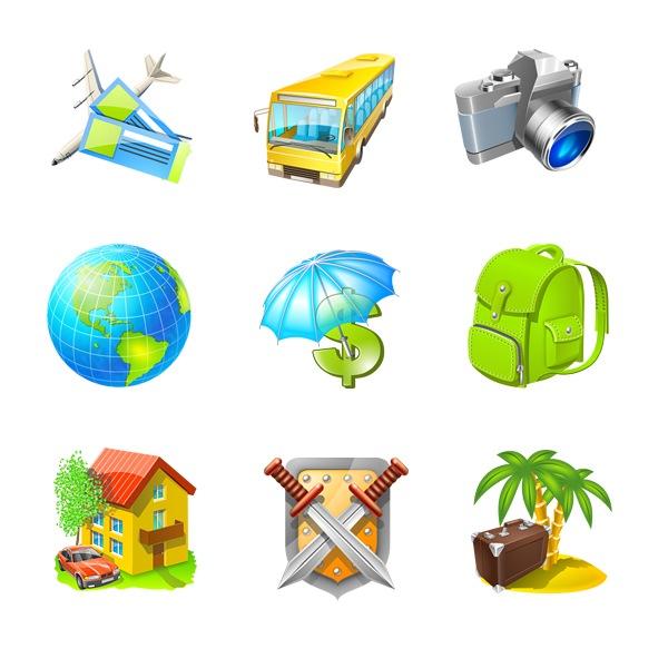Иконки путешествий