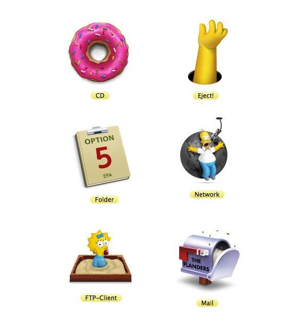 Иконки Симпсоны