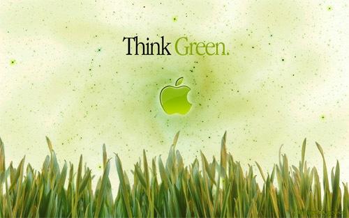 Зеленый природный Apple