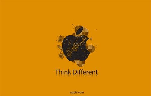 Оранжевые Apple обои