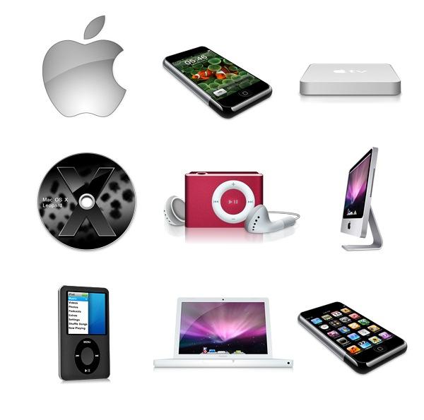 Иконки продуктов Apple