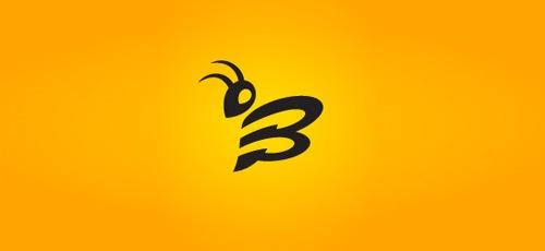 стильная лого пчела
