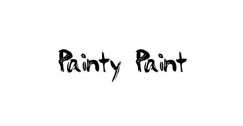 Шрифт краской
