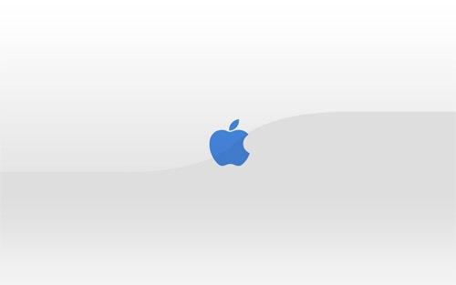 Белые обои Apple