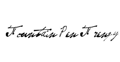 Письменный шрифт