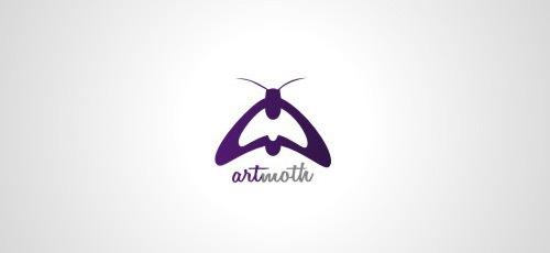 мотылек в дизайне лого