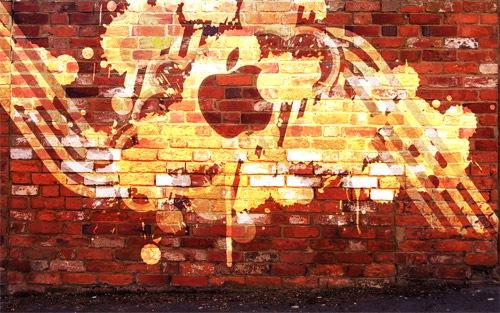 Apple граффити