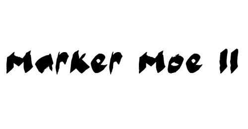Жирные наведенные буквы шрифта marker moe