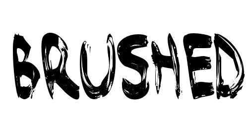 Зарисовки шрифтов кистью в bumrush