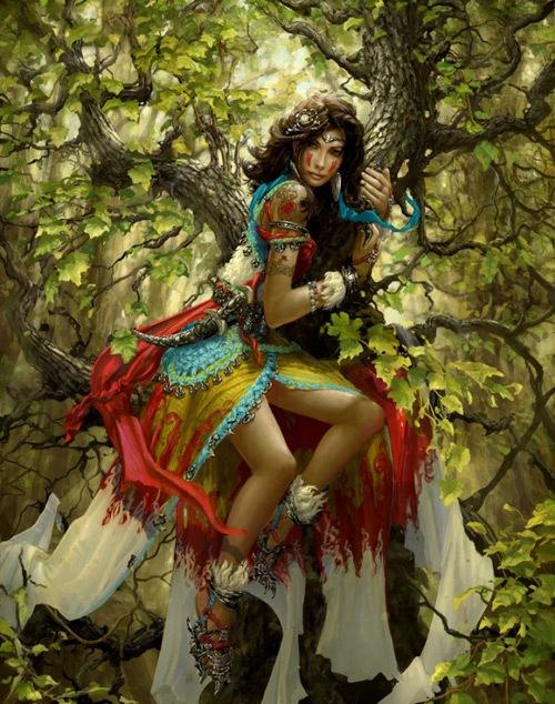 Девушка на дереве