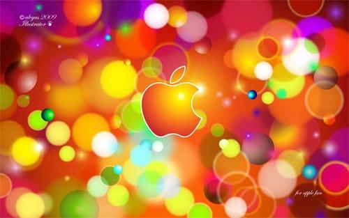 Яркие искрящиеся Apple обои