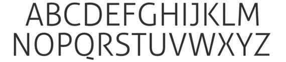 шрифт средней жирности