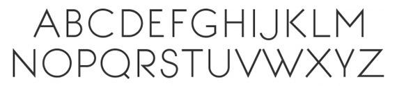 минималистические шрифты